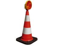 Traffic Cones with Warning Lights